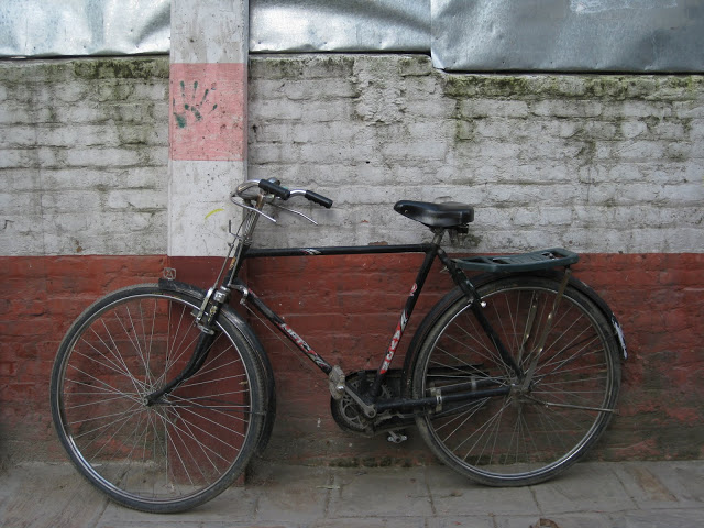 wall with bike