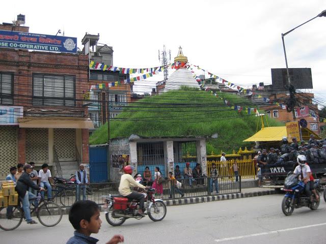 Grass stupa in Patan