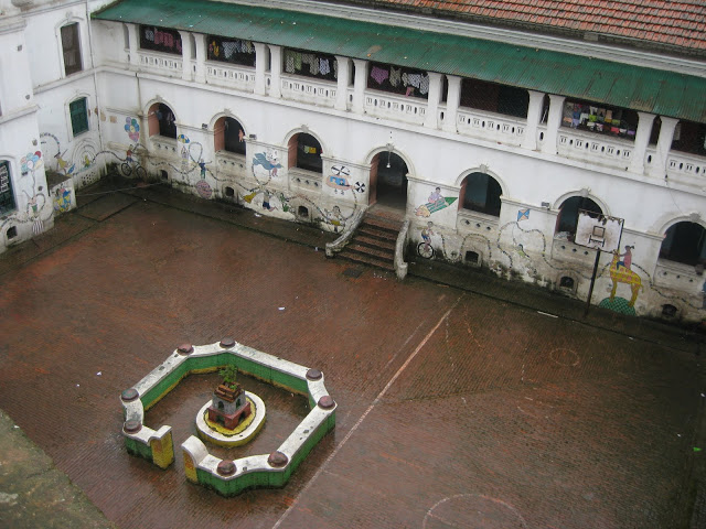 orphanage courtyard