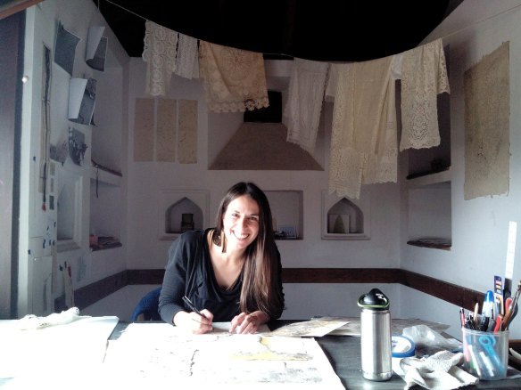 Here I am... happy as a clam working in my studio!
