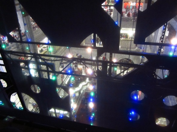 ... and the organ light show from my 'backstage' perspective...
