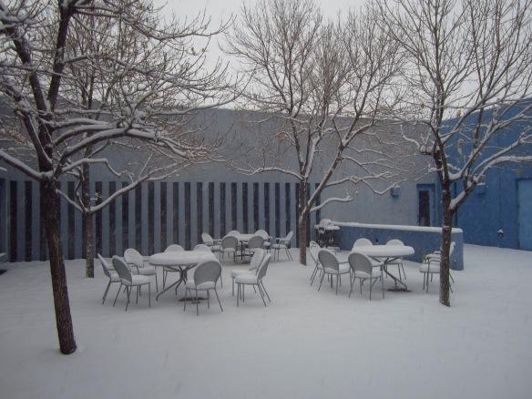 The center courtyard...