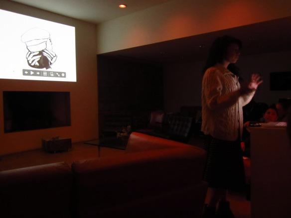 Loren giving her presentation...