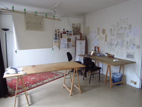 ... and my work space.