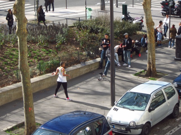 ... and this dancer chose the spot for the filming of a music video...