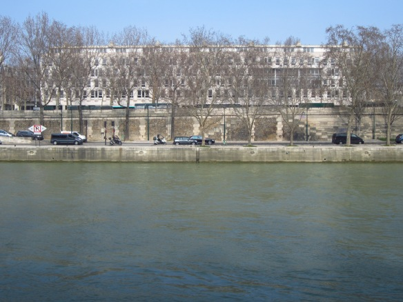 The main building from across the river...